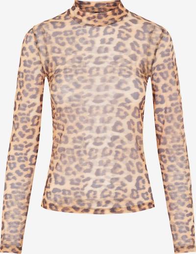 PIECES Shirt 'Alva' in beige / braun / schwarz, Produktansicht