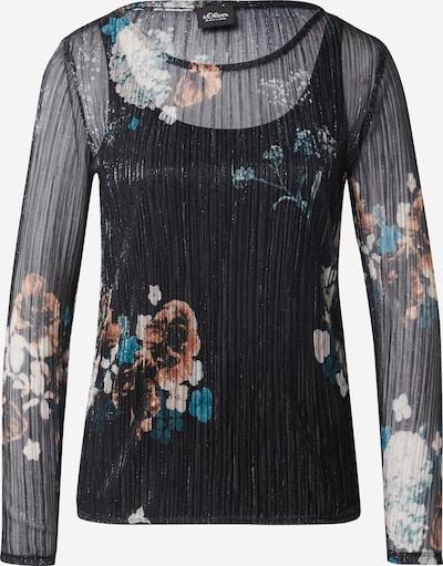 s.Oliver BLACK LABEL Tričko - zmiešané farby / čierna, Produkt