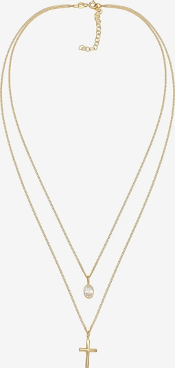 ELLI Halskette Kreuz, Layer in gold, Produktansicht