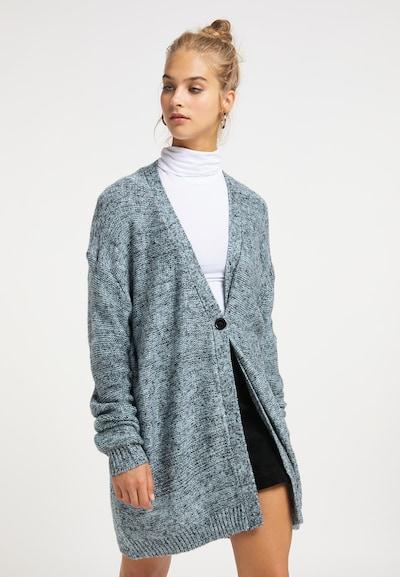 MYMO Cardigan in hellblau / schwarz, Modelansicht