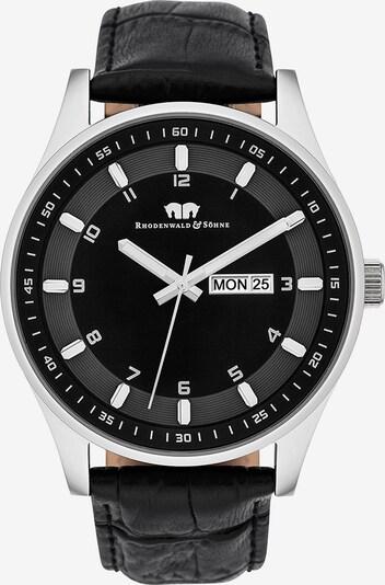Rhodenwald & Söhne Uhr 'Couragian' in schwarz / silber, Produktansicht
