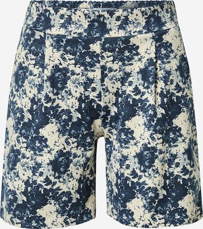 ICHI Pantalón plisado 'KATE' en azul oscuro / blanco cáscara de huevo, Vista del producto
