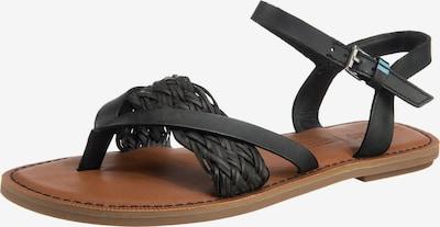 Flip-flops 'LEXIE' TOMS pe negru, Vizualizare produs