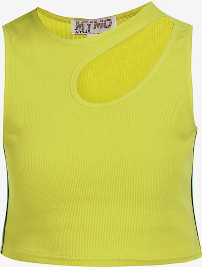 myMo ATHLSR Sporttop in de kleur Neongeel, Productweergave