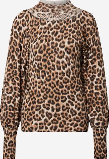 OUI Pullover in beige / hellbraun / schwarz, Produktansicht