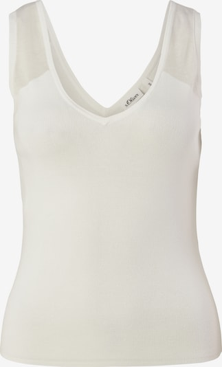 s.Oliver BLACK LABEL Top in weiß, Produktansicht