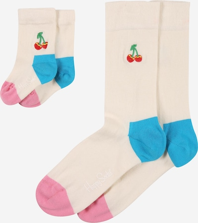 Happy Socks Socken 'Cherry' in blau / pink / rosa, Produktansicht