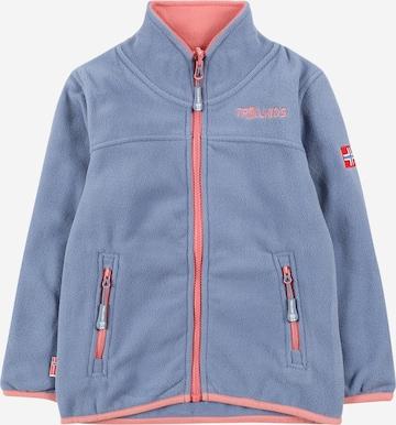TROLLKIDS Athletic fleece jacket in Blue