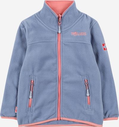Jachetă  fleece funcțională TROLLKIDS pe albastru fumuriu / portocaliu somon / roși aprins / alb, Vizualizare produs