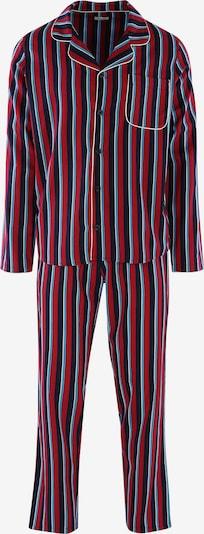 SEIDENSTICKER Langarm Pyjama ' Block Stripes ' in weinrot, Produktansicht