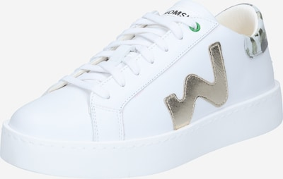 WOMSH Baskets basses 'CONCEPT' en gris / argent / blanc, Vue avec produit