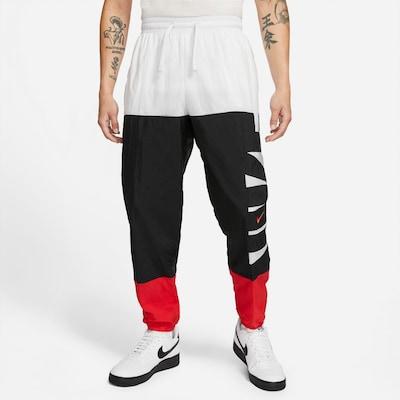 NIKE Športové nohavice - čokoládová / červená / biela, Model/-ka