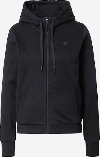 4F Athletic Zip-Up Hoodie in Black, Item view