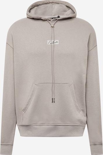 Bluză de molton The Couture Club pe bej / gri argintiu / negru, Vizualizare produs