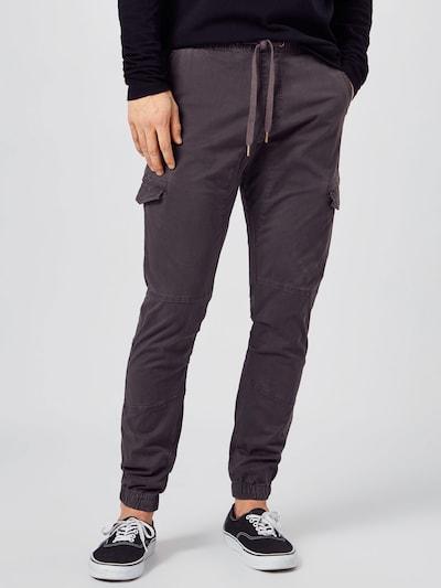 Laisvo stiliaus kelnės 'Levy' iš INDICODE JEANS, spalva – tamsiai pilka, Modelio vaizdas