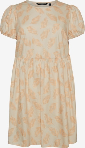 Vero Moda Curve Summer Dress in Beige