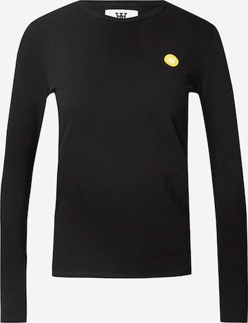 WOOD WOOD Koszulka 'Moa' w kolorze czarny