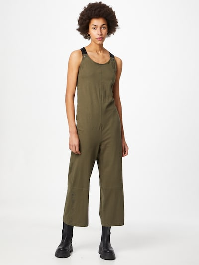 G-Star RAW Jumpsuit 'Dungaree' in de kleur Kaki, Modelweergave