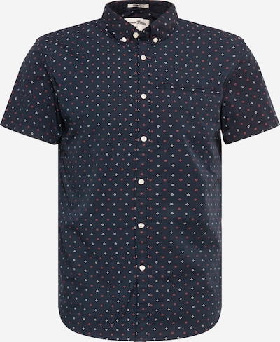 TOM TAILOR DENIM Overhemd in de kleur Donkerblauw / Purper / Wit, Productweergave