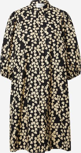 SECOND FEMALE Blusenkleid 'Alula' in gelb / schwarz, Produktansicht