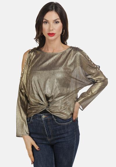 faina Bluse in gold / schwarz, Modelansicht