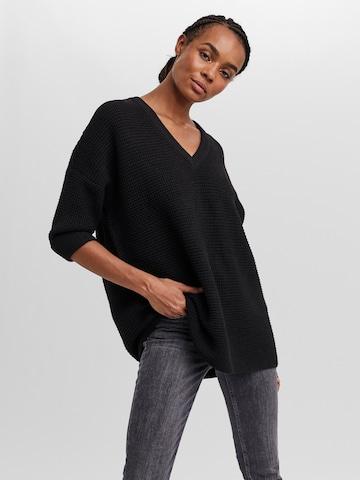 VERO MODA Пуловер 'Leanna' в черно
