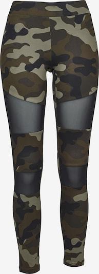 Urban Classics Leggings in khaki / oliv / schwarz, Produktansicht