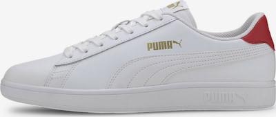 PUMA Sneakers laag 'Smash' in de kleur Goud / Rood / Wit, Productweergave