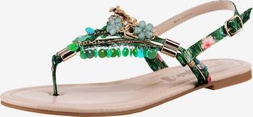 BUFFALO T-Bar Sandals 'Rebecca' in Green