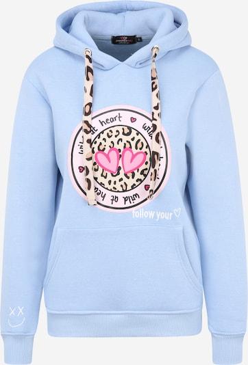 Zwillingsherz Sweatshirt 'Kelly' in de kleur Lichtblauw / Gemengde kleuren, Productweergave