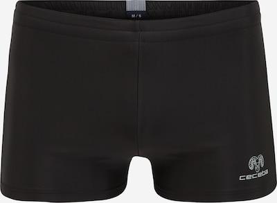 CECEBA Badehose in schwarz / weiß, Produktansicht