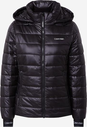 Calvin Klein Prijelazna jakna u crna / bijela, Pregled proizvoda
