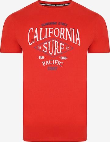 T-Shirt 'Sunshine' Threadbare en rouge