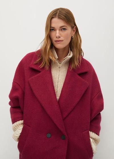 MANGO Přechodný kabát 'Coctel' - fuchsiová, Model/ka
