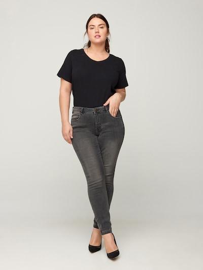 Zizzi Jeans in grey denim, Modelansicht