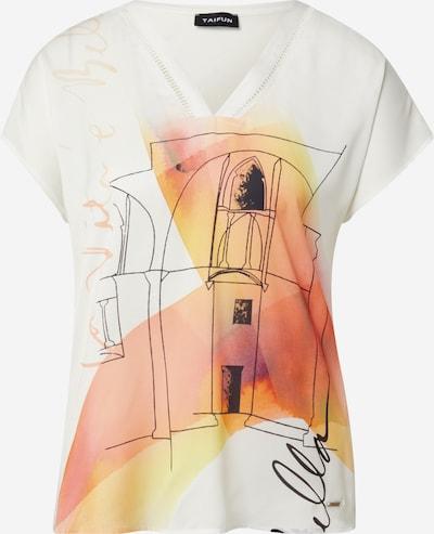 TAIFUN Shirt in de kleur Limoen / Koraal / Oranjerood / Zwart / Wit, Productweergave