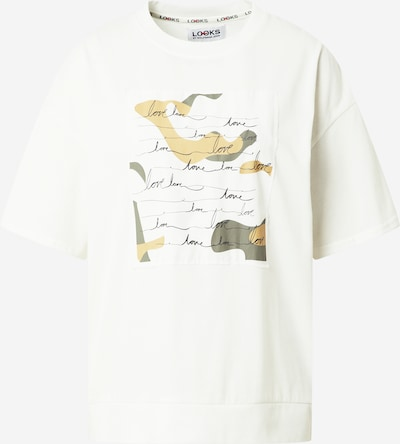 LOOKS by Wolfgang Joop T-Shirt in gelb / greige / offwhite, Produktansicht