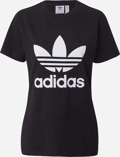 Tricou 'TREFOIL TEE' ADIDAS ORIGINALS pe negru / alb, Vizualizare produs
