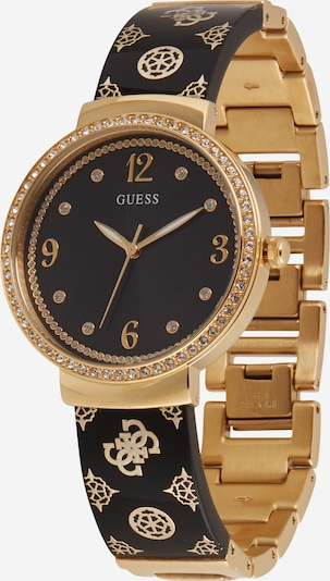 GUESS Analog watch 'MOTIF' in Gold / Black / White, Item view