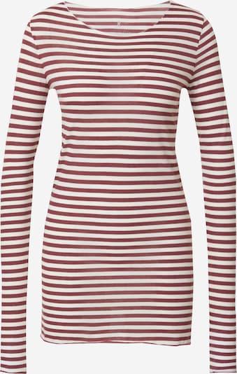 ARMEDANGELS Shirt 'EVVAA' in rubinrot / weiß, Produktansicht