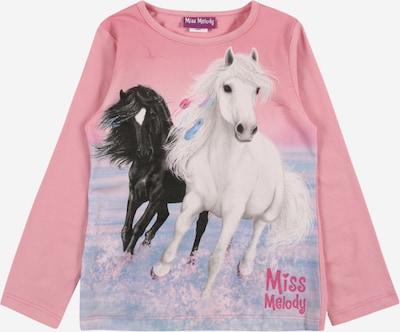 Miss Melody T-Shirt en bleu clair / rose ancienne / noir / blanc, Vue avec produit