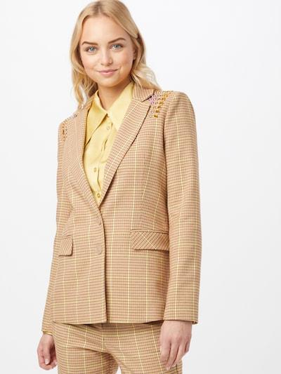 PATRIZIA PEPE Blazer 'GIACCA' in kitt / dunkelbraun / gelb / dunkelorange, Modelansicht