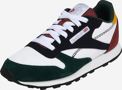 Sneaker Reebok Classic di colore giallo scuro / verde scuro / borgogna / bianco, Visualizzazione prodotti