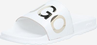 HUGO Slipper 'Match_Slid_L' in silber / weiß, Produktansicht