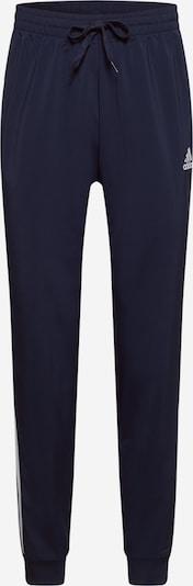 ADIDAS PERFORMANCE Športne hlače | mornarska / bela barva: Frontalni pogled