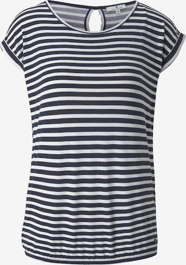 TOM TAILOR T-shirt en bleu marine / blanc, Vue avec produit