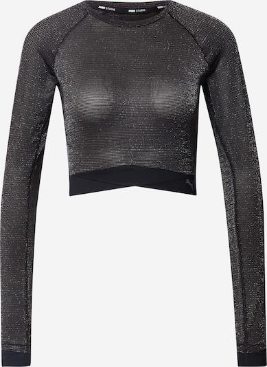 PUMA Shirt 'Studio' in schwarz / silber, Produktansicht