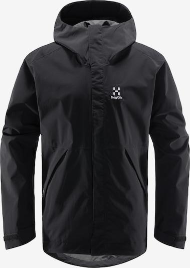 Haglöfs Outdoorjacke 'Tjärn' in schwarz / weiß, Produktansicht
