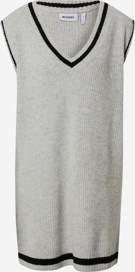 WEEKDAY Плетена рокля 'North Vest' в сиво / черно, Преглед на продукта
