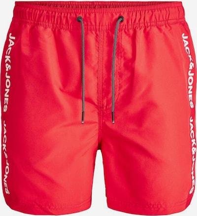 JACK & JONES Zwemshorts in de kleur Oranjerood / Wit, Productweergave